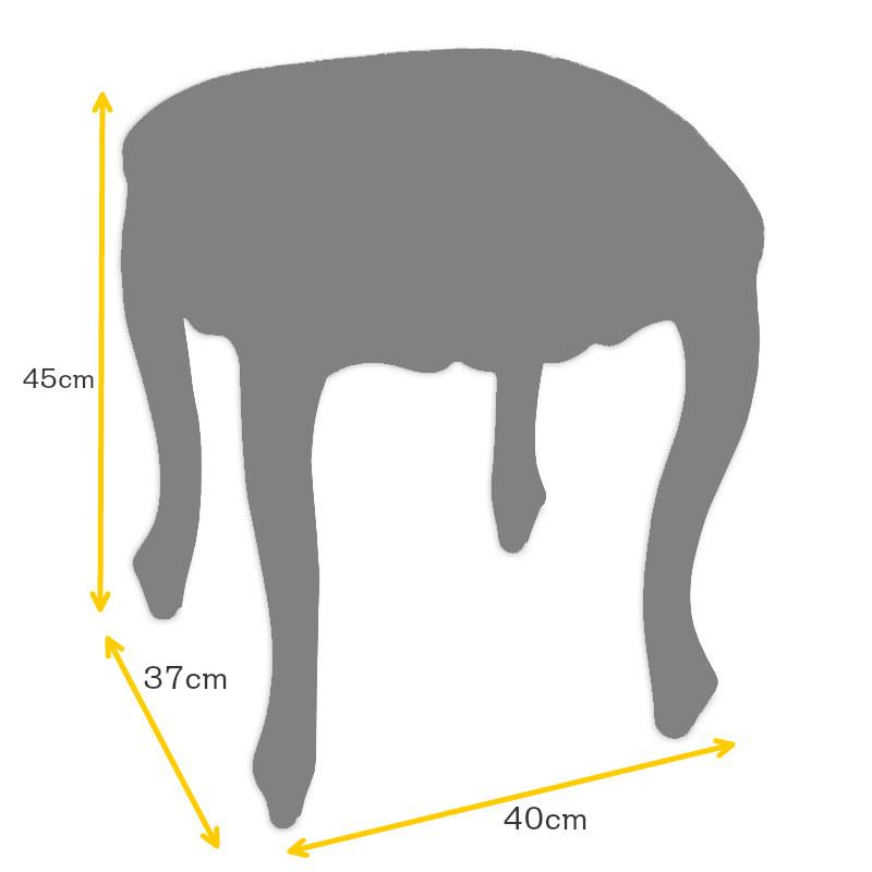 輸入家具 格安 マホガニー 猫脚 スツール :2色 送料無料