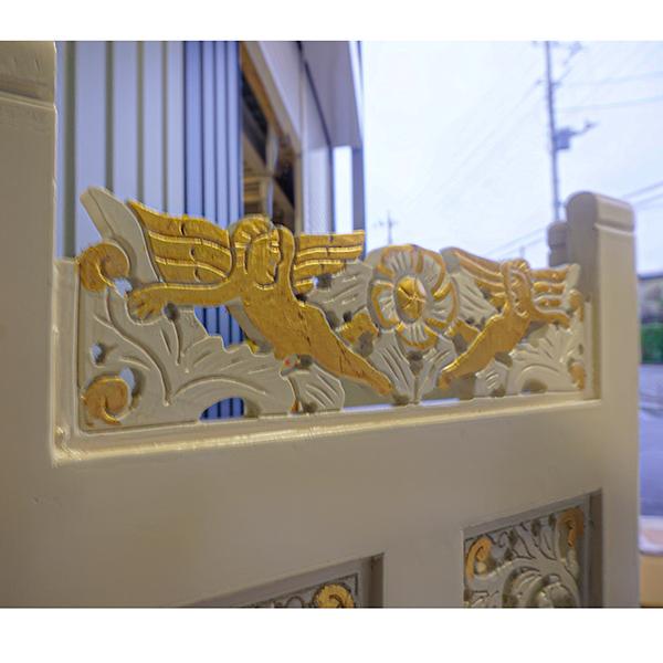 白い エンゼルスクリーン oro bianco 3面開閉式