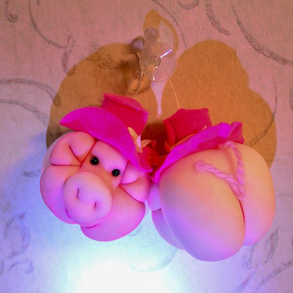 ピンクの豚 2個とポプリオイル1箱 セット 送料無料 ほのかな香り付き