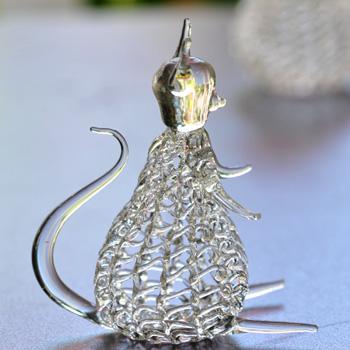 輸入インテリア:糸ガラス:猫