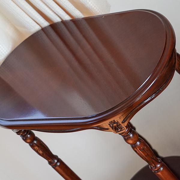 marrone サイドチェア FabricAとマルチテーブル3点セット ローズ マホガニー材使用