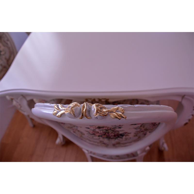 oro bianco ダイニングテーブル 食卓机 スクエア150cm  【天板ガラスサービス】