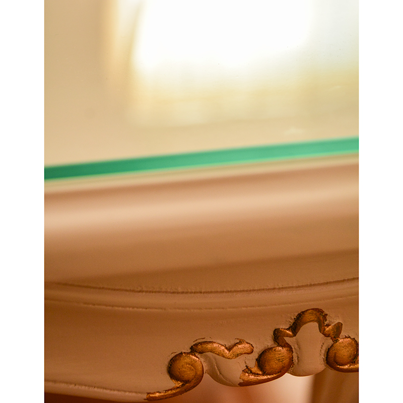 oro biancoダイニング5点セット:スクエア150ロココ調家具 【送料無料】 ファブリックA