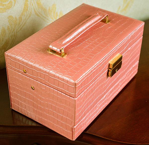 お姫様のクロコジュエリーボックス:ピンク ホワイトデーに