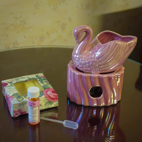 アロマ ポットセット スワン ピンク 在宅 芳香剤 癒し 芳香剤 お試しセット