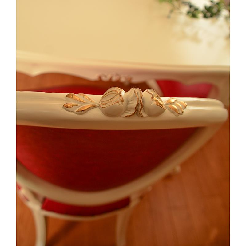 oro bianco 椅子 ダイニングチェア PVC ローズレッド マホガニー材使用