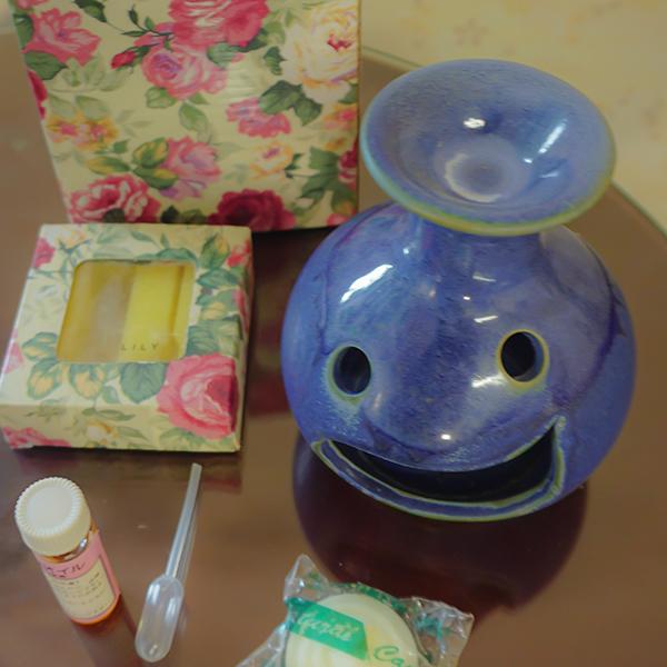アロマ  オイルポットセット 笑 ブルー 在宅 芳香剤 癒し お試しセット