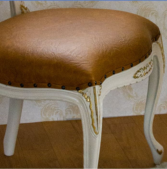 oro bianco 椅子 ダイニングチェア PVCキャメルブラウン マホガニー材使用