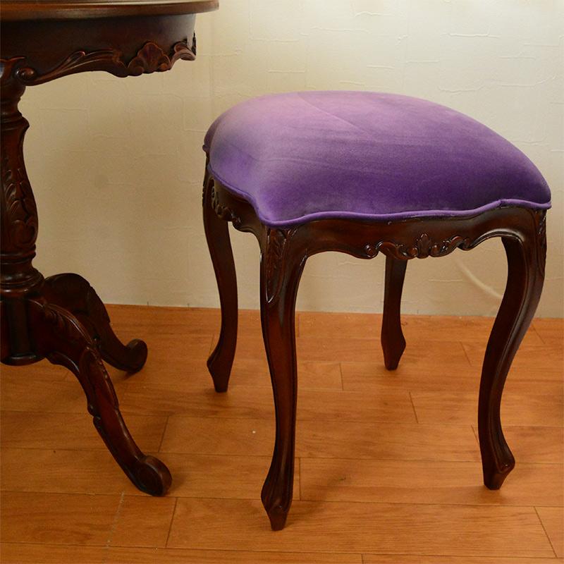 marrone 4本脚サイドテーブル/ティーテーブル ct201-55 無地 マホガニー材使用 天板ガラスサービス