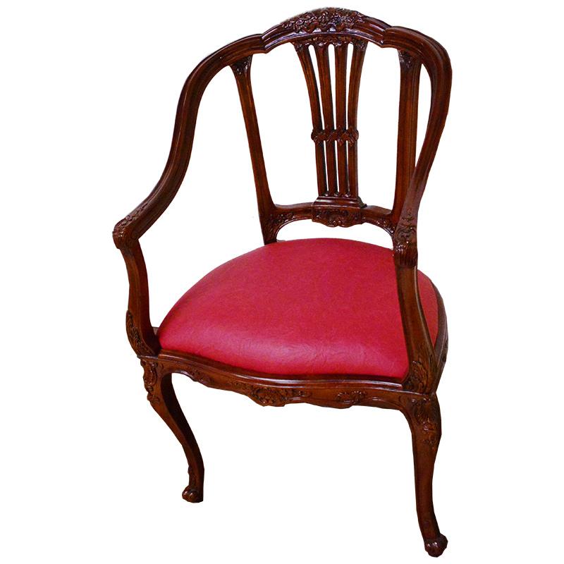 値下げしました! マホガニー家具:ローズアームチェア 送料無料 ch322