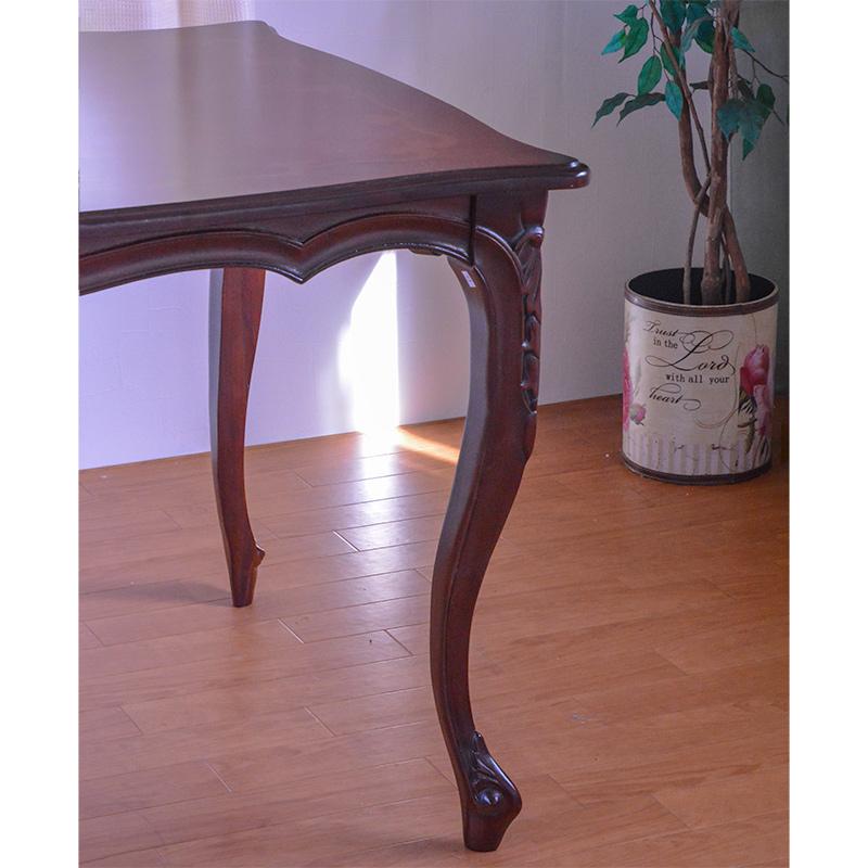 marone テーブル 食卓机 スクエア 花柄 135cm 天板ガラスサービス中!