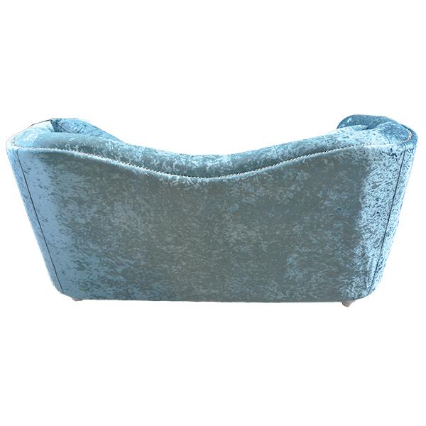 ロココ調家具クリスタルが綺麗なラブソファ:ブルー