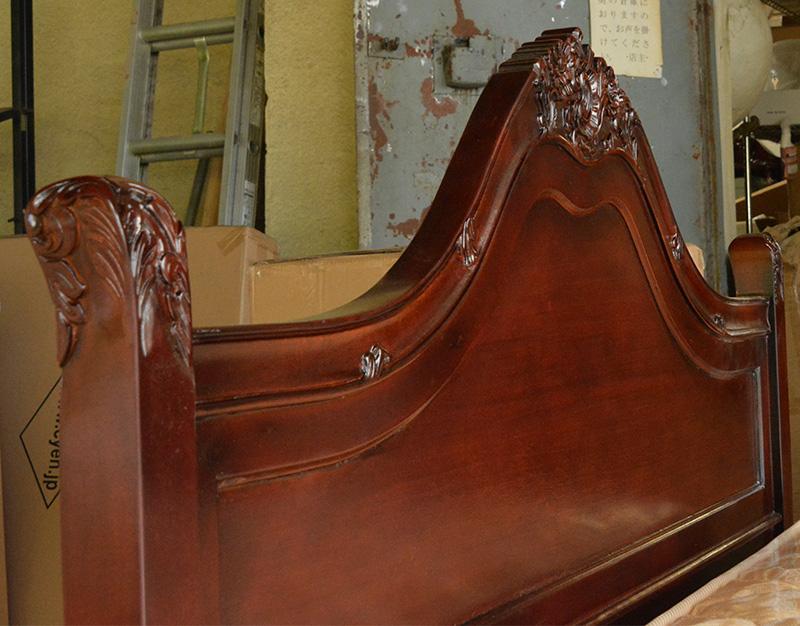 marrone セミダブルベッド(スタンダード) b120brstd-sd マホガニー材使用