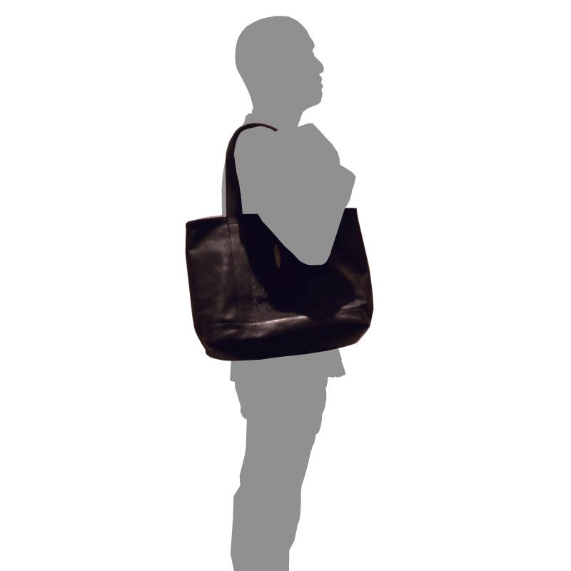【完全受注生産】ドクター監修/高級天然皮革使用/本格派ビジネス・トートバッグ【センター革ニシキヘビモデル】