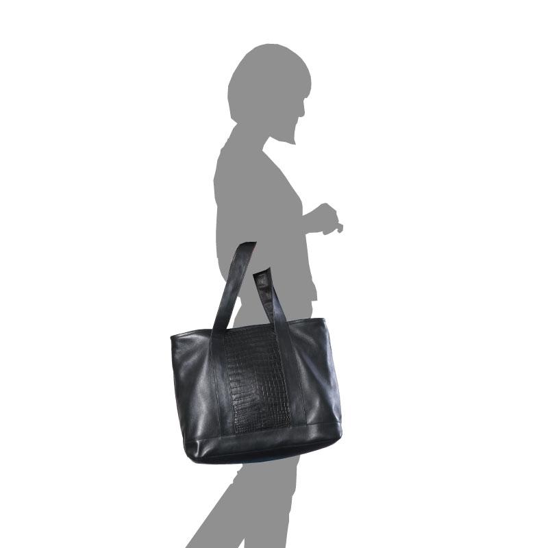 【完全受注生産】ドクター監修/高級天然皮革使用/本格派ビジネス・トートバッグ【センター革スティングレイ(エイ)モデル】
