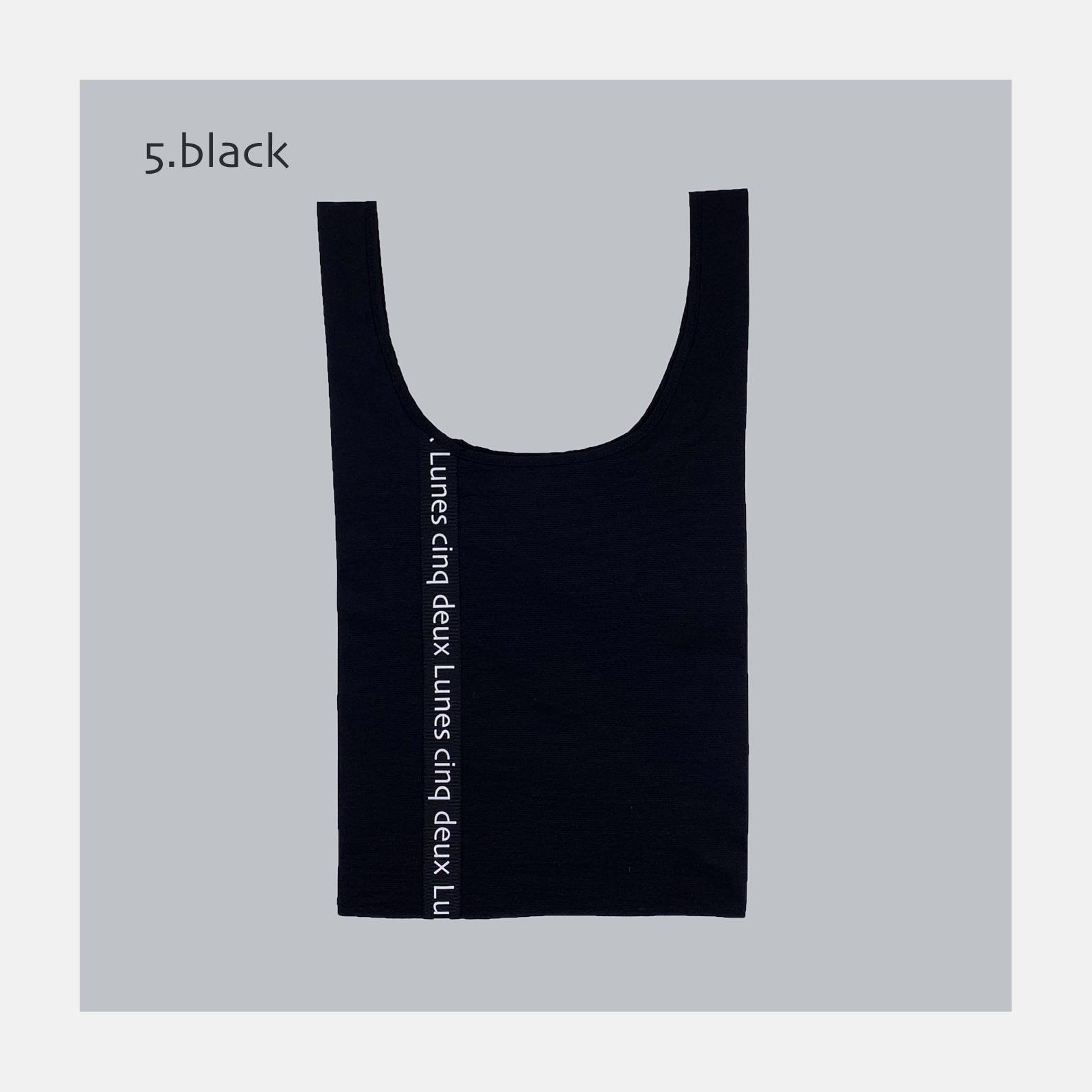 マッケンロー logo Bag <br>5.BLACK<br>3900円~<br><br>(logo ribbon 7+2color options)