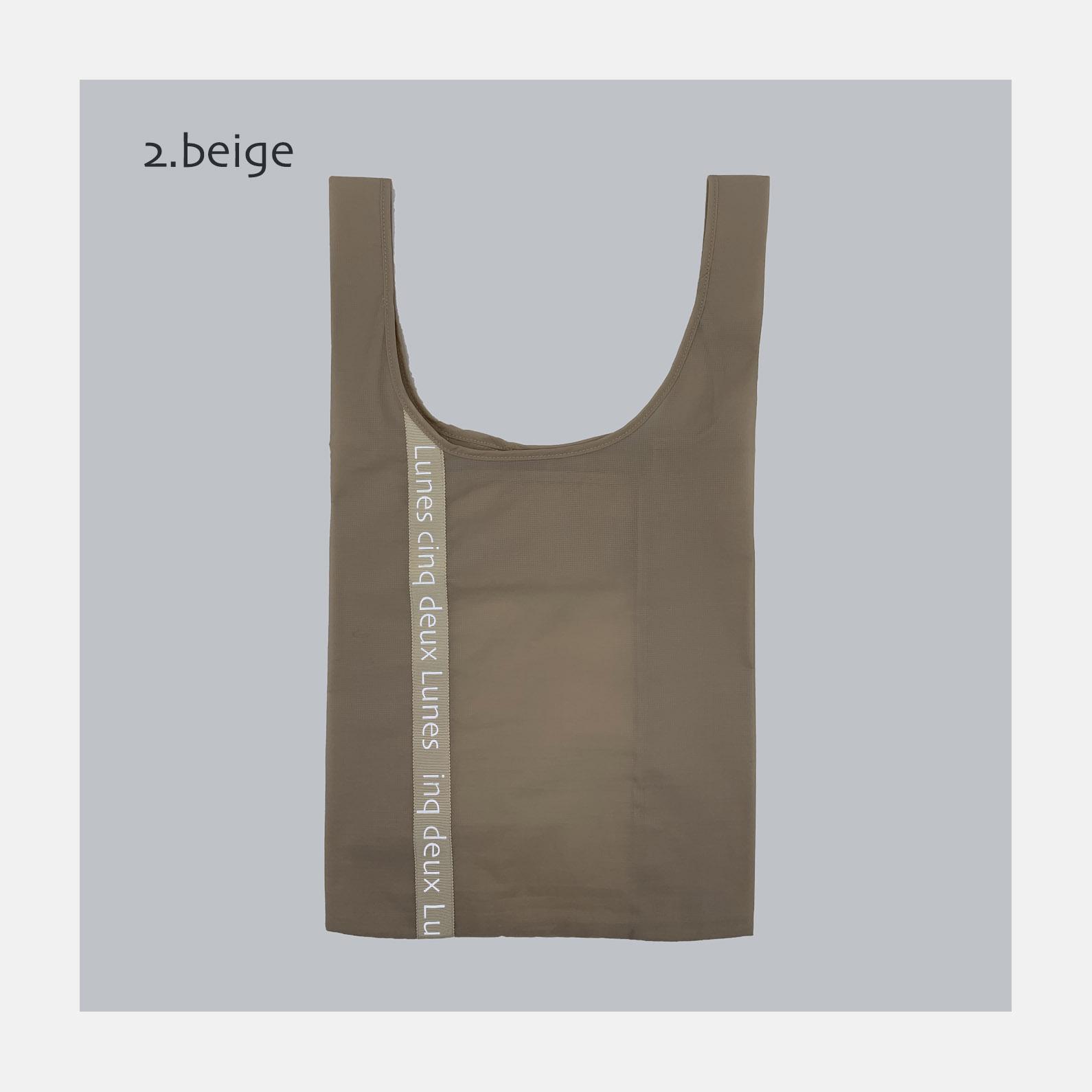 マッケンロー logo Bag <br>2.BEIGE<br>3900円~<br>(logo ribbon 7+2color options)