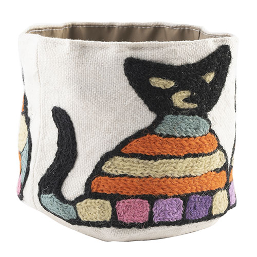 MING カシミール刺繍のポッド S(猫)