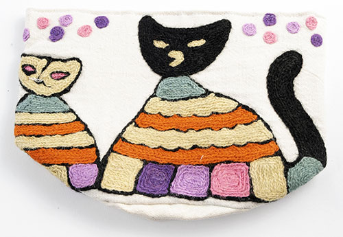 MING カシミール刺繍のポッド L(猫)