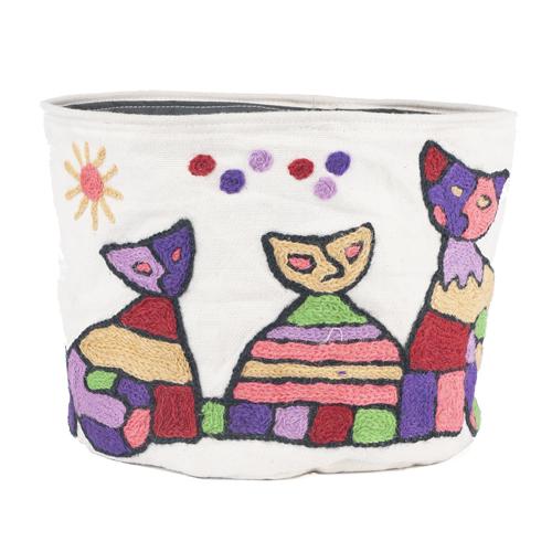 MING カシミール刺繍のポッド LL(猫)