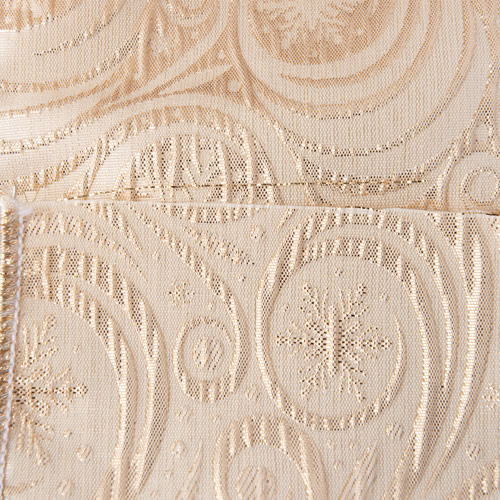 MING ワイヤーリボン 雪の結晶 (ゴールド) 幅10cm