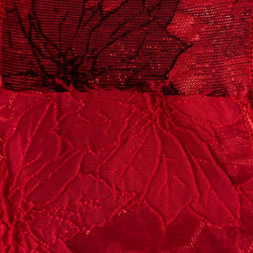 MING ワイヤーリボン ポインセチア (赤) 幅10cm