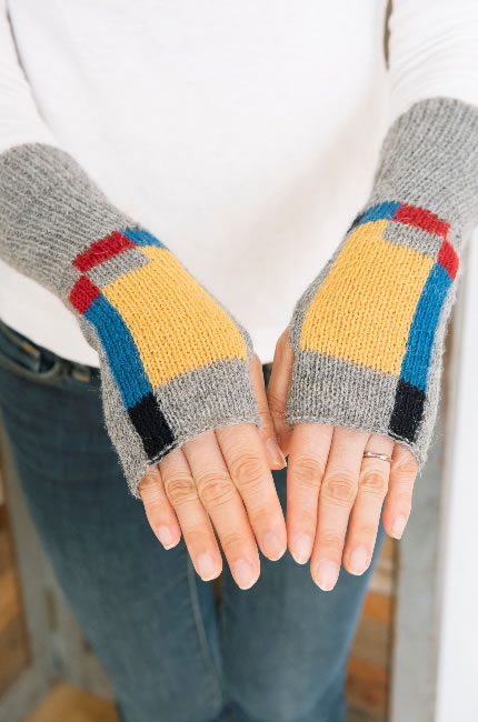 アルパカ100% 指なし手袋(スクエア)