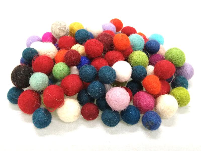 MING ネパール フェルトボール極小 100個セット