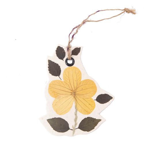 MING 手漉き紙 押し花のチャーム(ゴールデンシャワー)