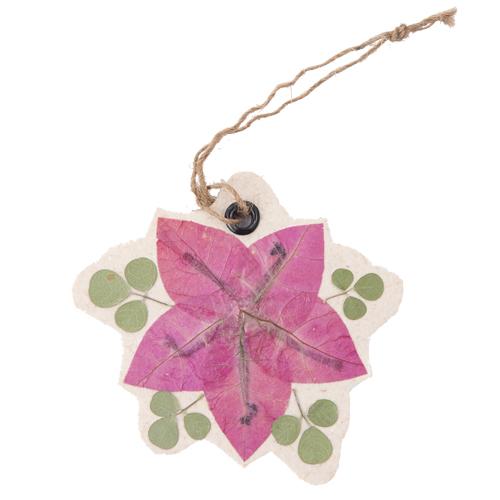 MING 手漉き紙 押し花のチャーム(ブーゲンビリア)