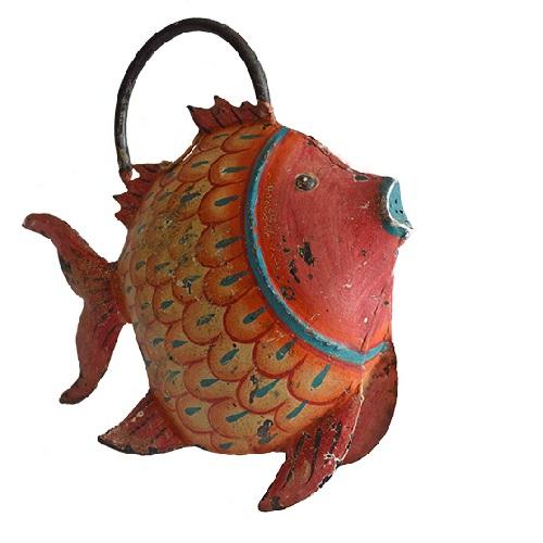 MING ブリキのじょうろの置き物(魚)