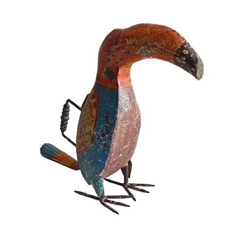 MING ブリキのじょうろの置き物(鳥)