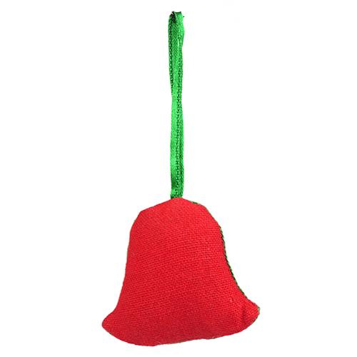 ミラー刺繍 オーナメント ベル(赤)