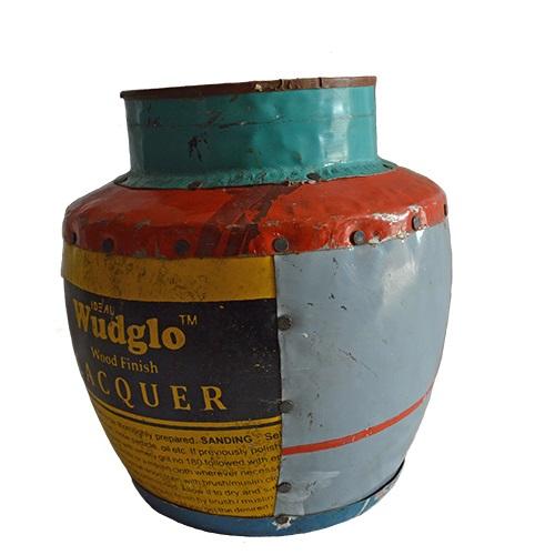MING リサイクルブリキの花瓶