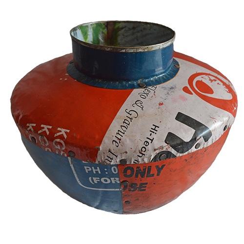 MING リサイクルブリキの花瓶(幅広)