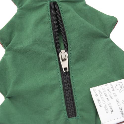ファスナー付き刺繍オーナメント ツリー(緑)