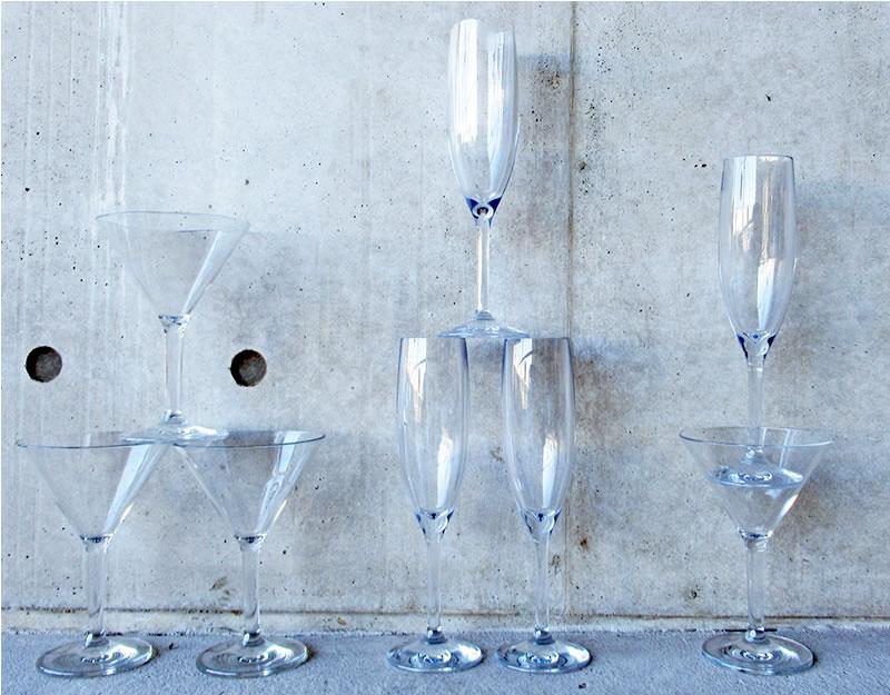 ポリカーボネートの器 ワイングラス 6個セット