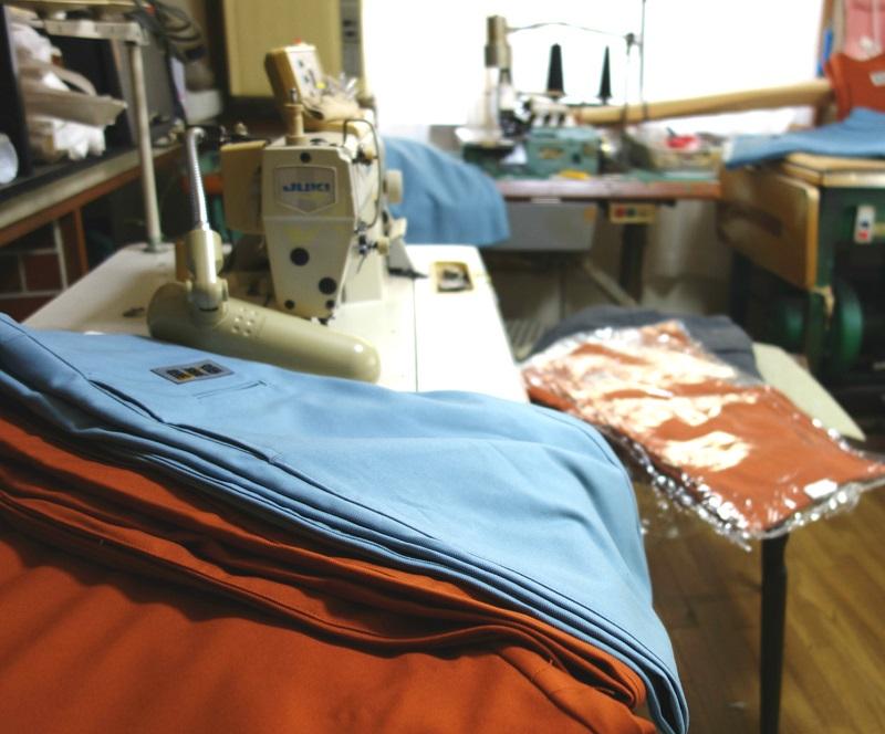 【上下セット】日本製廣瀬屋細身 ヒヨクオープンシャツ&江戸前超ロング ベルトループ無し アイボリー