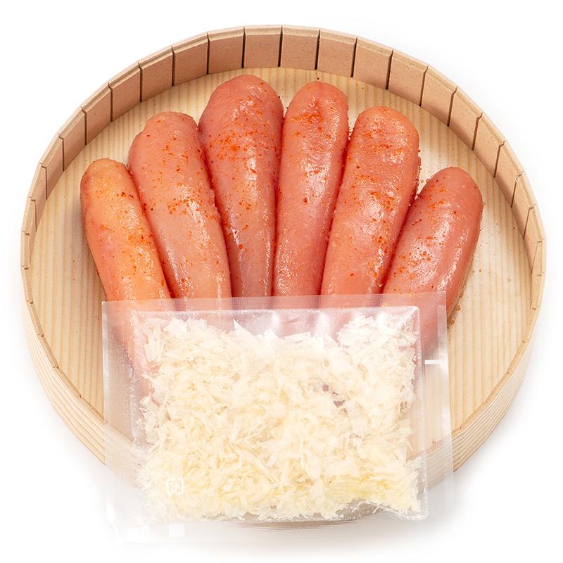 鶏節をかけて食べる博多辛子明太子(300g)