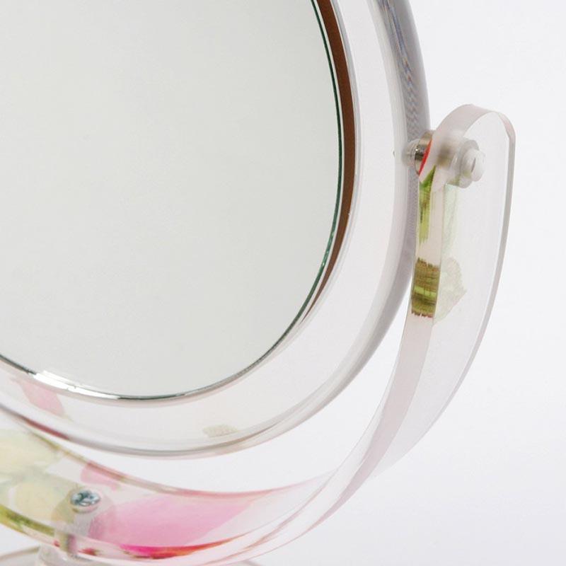 シアーローズ コスメティックミラーO型 GM-RO42(平面鏡&5倍拡大鏡)