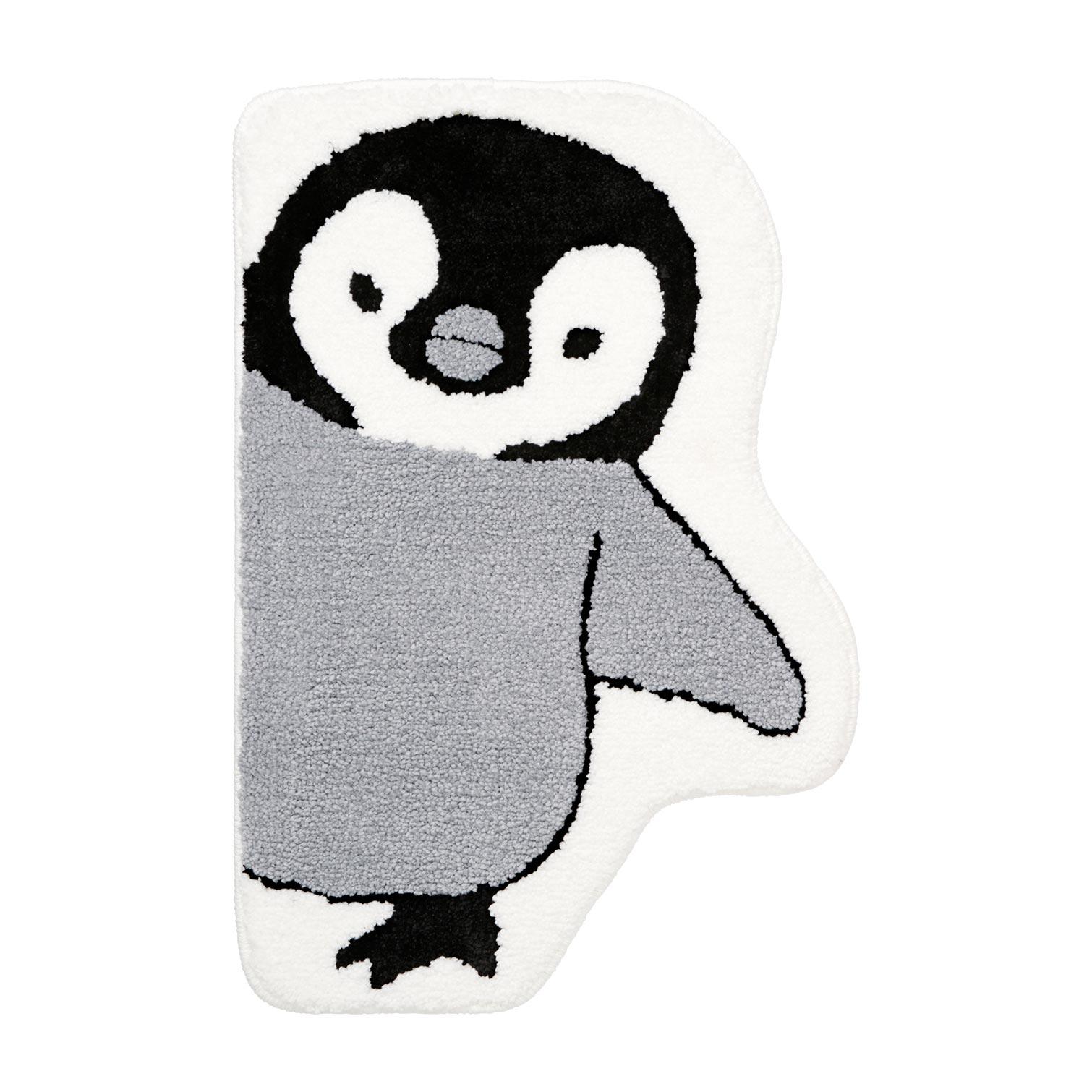 のぞき見動物 バスマット 40x60 ペンギン