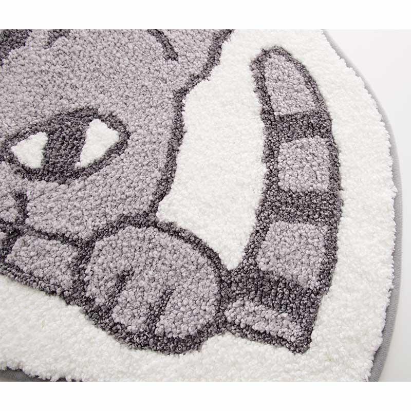のぞき見動物 トイレマット 50x65 ネコ