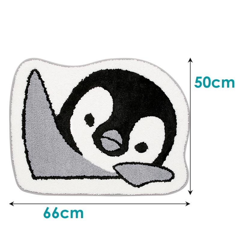 のぞき見動物 トイレマット・フタットシート2点セット ペンギン