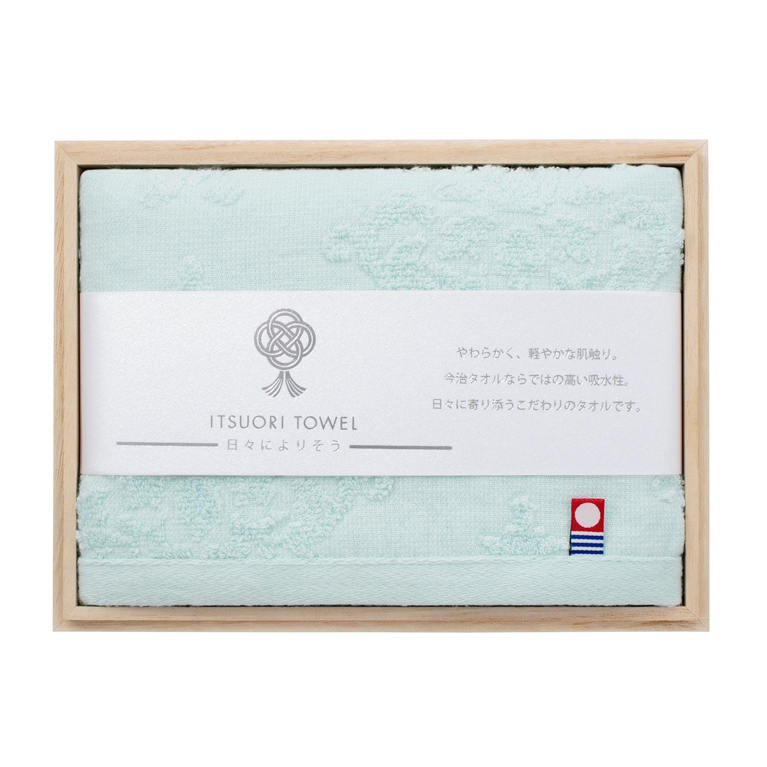 逸織タオル 爽 ITSUORI TOWEL  AOI   フェイスタオル x 1 ITSAOI10WH/GR