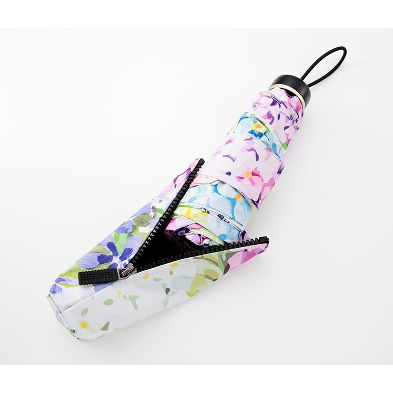 晴雨兼用折りたたみ傘 フラワーラビット ブルー