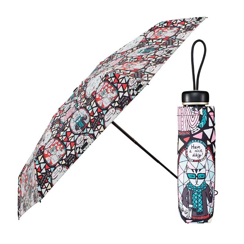晴雨兼用折りたたみ傘 キャット