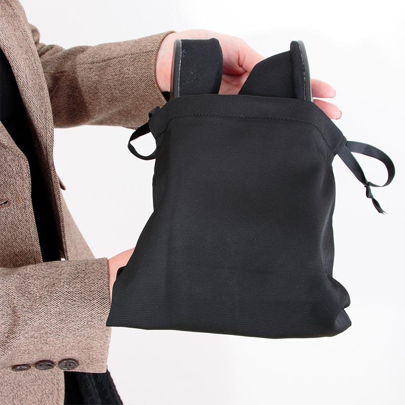 ルームシューズ ヒールテープリボン 巾着付き DFSS-003-2