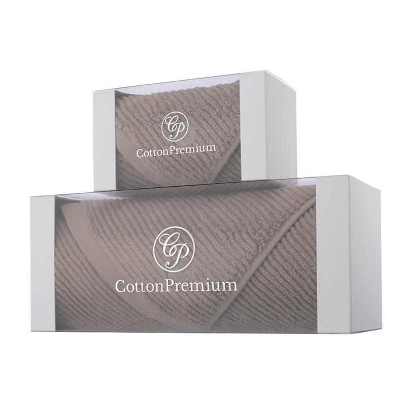 Cotton Premium  x casual avenue / スリムリブ フェイスタオル