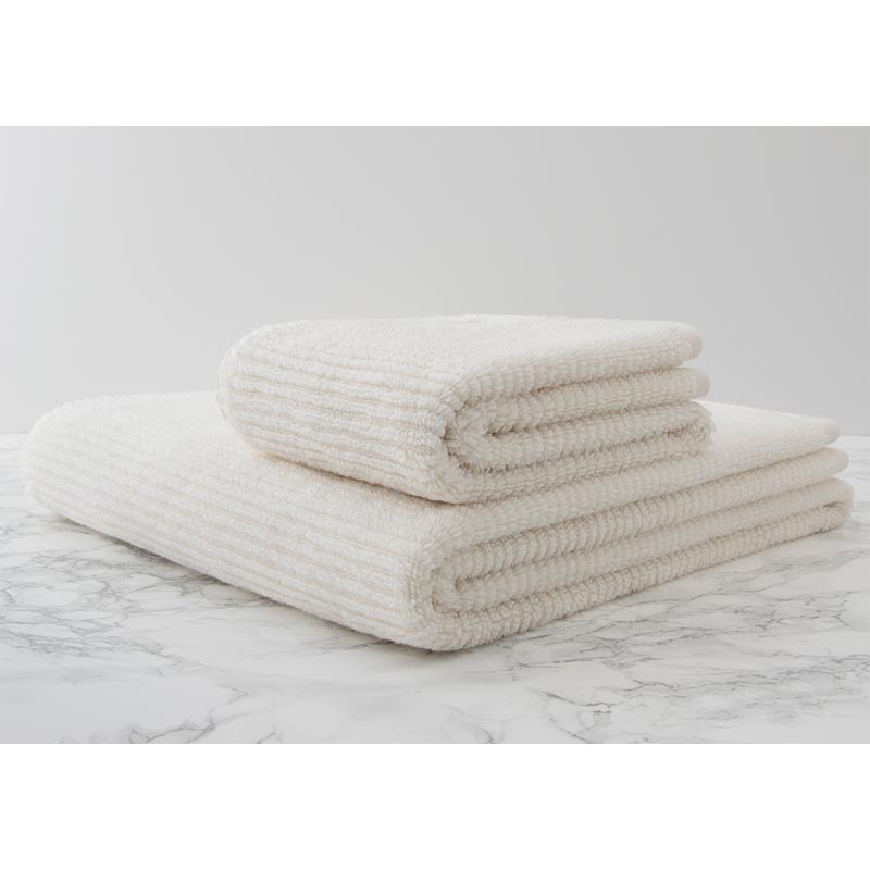 Cotton Premium  x casual avenue / スリムリブ バスタオル