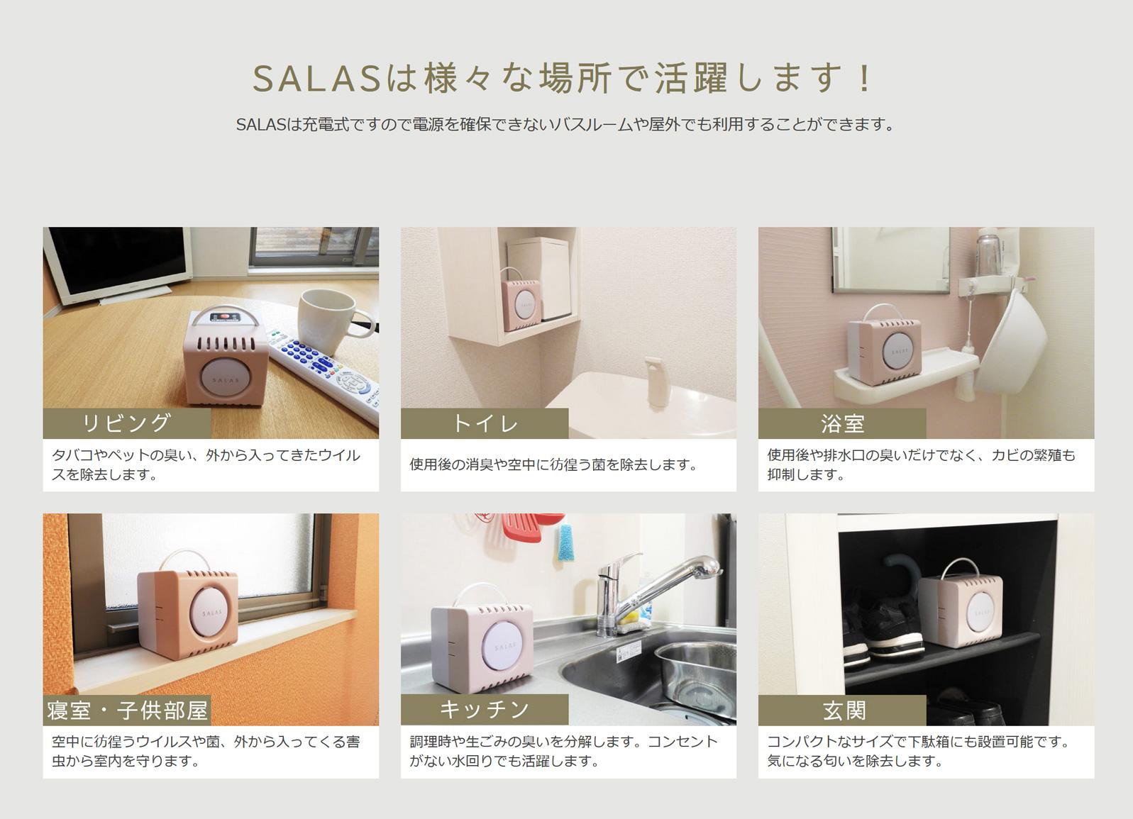 【オゾン発生器】SALAS(オゾンエアーサラス)【日常空間の除菌・消臭】